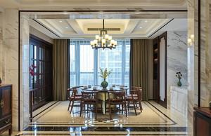 170平米中式风格典雅复式楼室内装修效果图