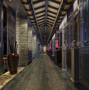 中式风格餐厅过道装修效果图