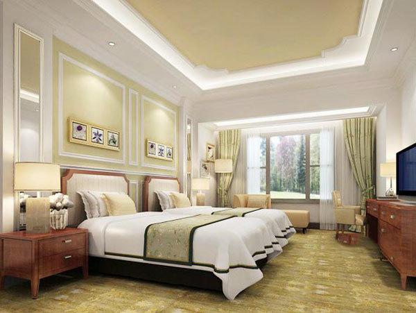 欧式风格精致酒店客房设计装修效果图