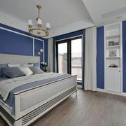 地中海风格经典蓝色卧室装修效果图