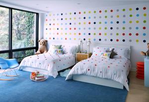 现代简约风格清新时尚儿童房设计装修效果图