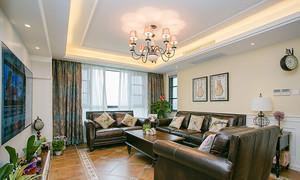 120平米美式风格精致室内设计装修实景图赏析