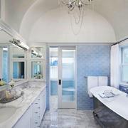 美式风格别墅室内清新卫生间装修效果图