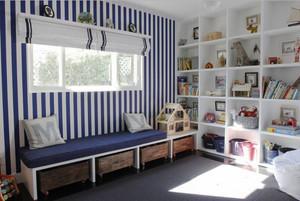 地中海风格蓝色清新飘窗设计装修效果图