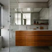 现代风格精致卫生间浴室柜设计装修效果图