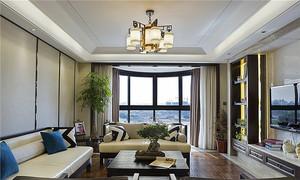 160平米新中式风格大户型室内装修效果图案例