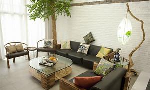 200平米新中式风格复式楼室内设计装修实景图赏析