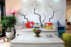 89平米中式风格清新时尚两室两厅室内装修效果图