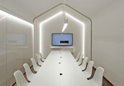 现代风格多功能会议室装修效果图