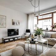 北欧风格文艺时尚客厅设计装修效果图赏析