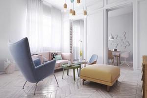 55平米简约风格清新单身公寓装修效果图
