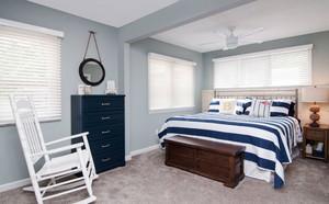 地中海风格蓝色清新卧室装修效果图赏析