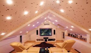 欧式风格别墅斜顶阁楼设计装修效果图赏析