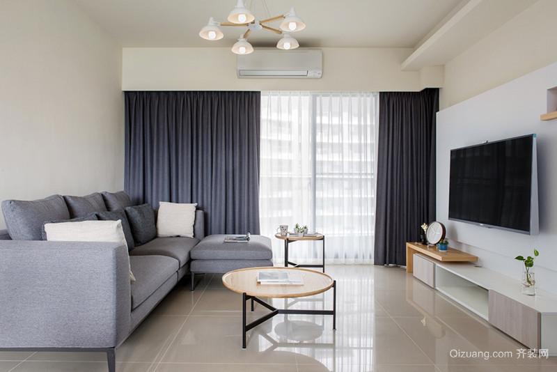 84平米简约风格温馨两室两厅室内装修效果图