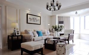 美式风格简约时尚两室两厅室内装修效果图赏析