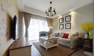 117平米美式田园风格精美两室两厅室内装修效果图