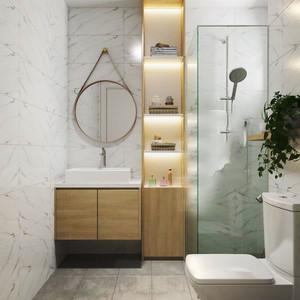 78平米清新风格两室两厅室内装修效果图赏析