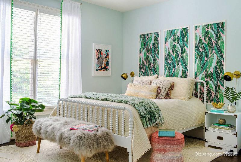 田园风格自然舒适卧室装修效果图赏析
