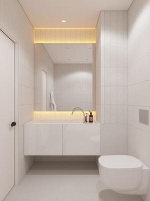 68平米现代风格简约浅色一居室装修效果图