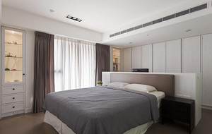 134平米新中式风格三室两厅室内装修效果图赏析