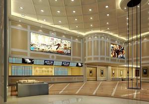 现代风格时尚电影院前台设计装修效果图