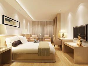 简约风格精致宾馆客房设计装修效果图