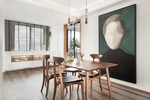 北欧风格时尚创意餐厅背景墙装修效果图