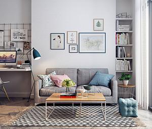 46平米北欧风格简约单身公寓设计装修效果图赏析