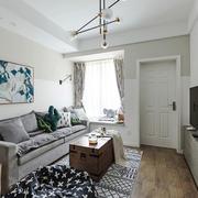 北欧风格简约温馨小户型客厅装修效果图