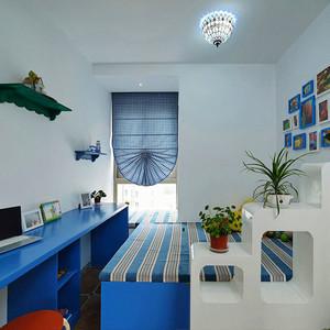 地中海风格蓝色精致榻榻米装修效果图赏析