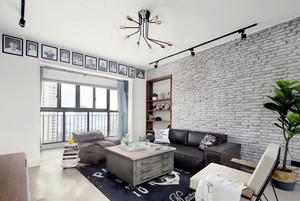 后现代风格灰色系时尚客厅设计装修效果图赏析
