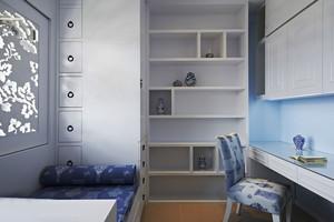 12平米简约风格清新儿童房设计装修效果图