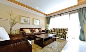 120平米美式风格精致室内设计装修效果图鉴赏