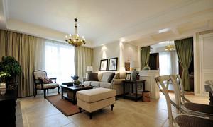 118平米美式风格精致两室两厅室内装修效果图