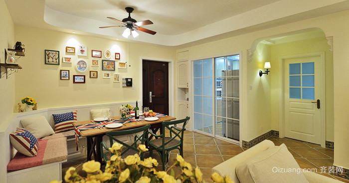 90平米美式田园风格精美室内装修效果图赏析
