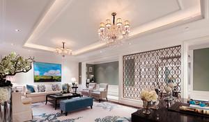 170平米欧式风格精美时尚大户型室内装修效果图赏析