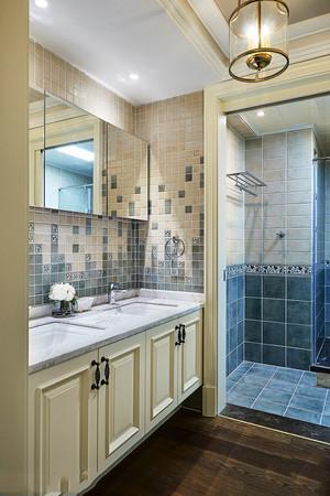 欧式风格精美时尚卫生间浴室柜设计装修效果图