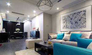 80平米现代风格时尚室内装修效果图赏析