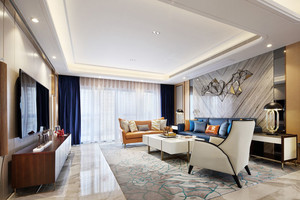 新古典主义风格精致三室两厅室内装修效果图案例