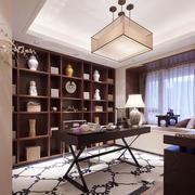中式风格古典精致大户型书房装修效果图赏析