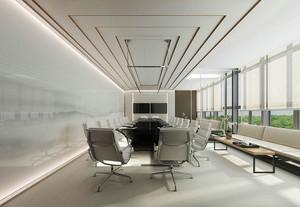 现代简约风格大型会议室装修效果图