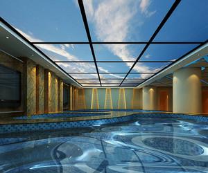 现代风格精致酒店游泳池设计装修效果图