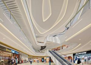 现代风格时尚商场大厅吊顶设计效果图