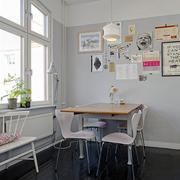 北欧风格简约时尚餐厅背景墙装修效果图