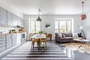 北欧风格时尚单身公寓设计装修效果图赏析