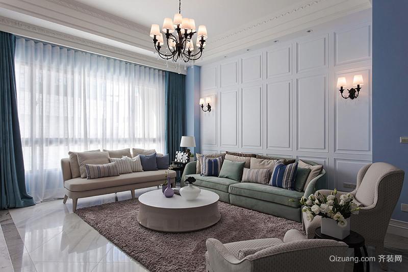 100平米地中海风格清新室内设计装修效果图