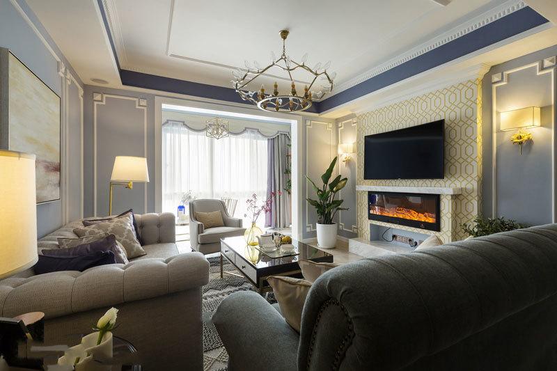 欧式风格轻奢时尚客厅设计装修效果图赏析