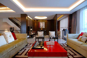 216平米新中式风格别墅室内装修效果图赏析