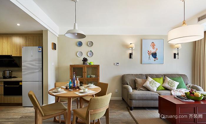89平米宜家风格清新两室两厅室内装修效果图