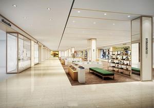 140平米简约风格大型鞋店装修效果图
